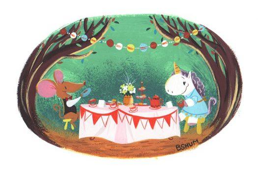 unicorn tea party